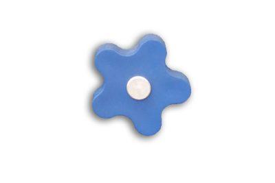 Pomo Flor Azul (40 x 21 mm.)
