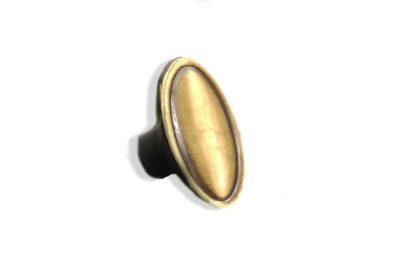 Pomo Ovalado Bronce (32 x 18 mm.)